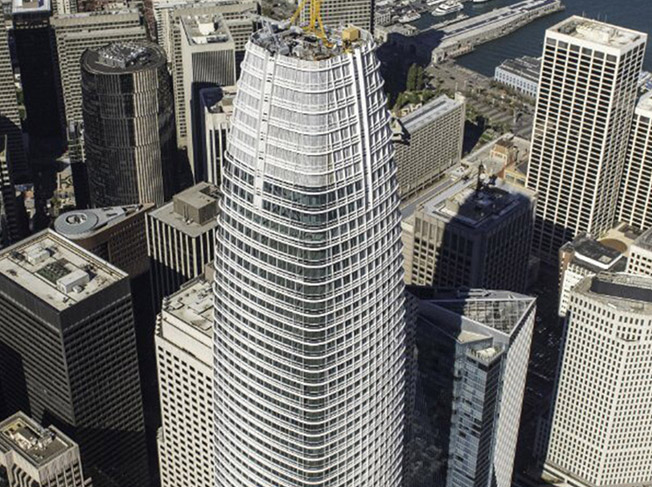 Salesforce Tower, San Francisco, CA, Benson Industrires, Glass facade, skyscraper