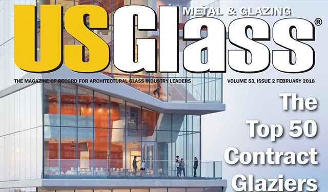 US Glass, Metal and Glazing, Top 50 Contract Glaziers, Benson Industries