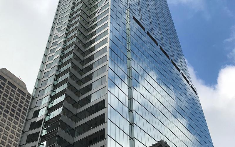 Wilshire Grande, LA, Benson Industries, Glass facade