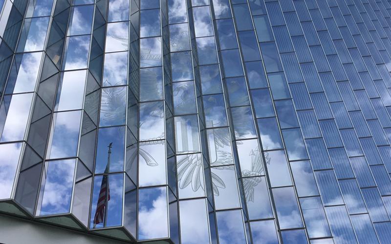 LA Federal Courthouse Building, Benson Industries, Glass Facade, California