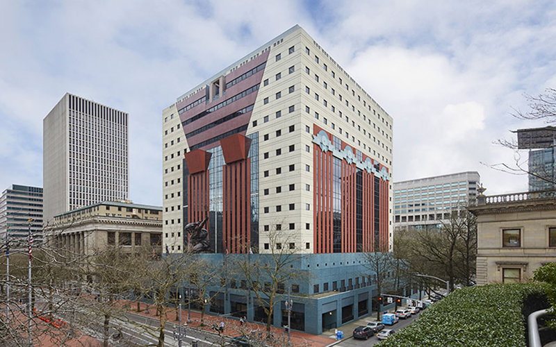Portland building, Benson Industries, Portland Oregon, Michael Graves