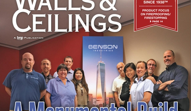 Walls & Ceilings, Magazine, Benson Industries