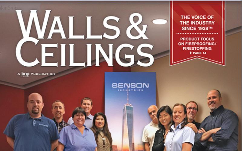 Walls & Ceilings, Magazine, Benson Industries