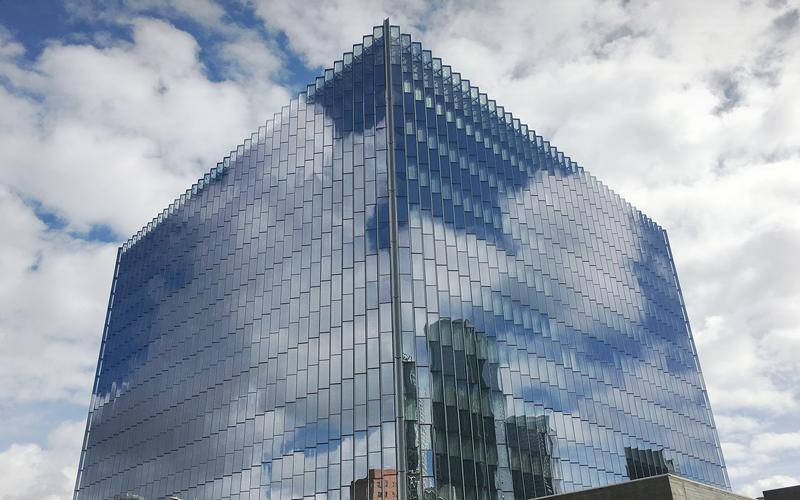 LA Courthouse, SOM Architects, Glazed Panels, Benson, Glass, California