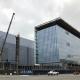 Long Beach Civic Center, benson Industries, Glass Facade, Long Beach California, progress