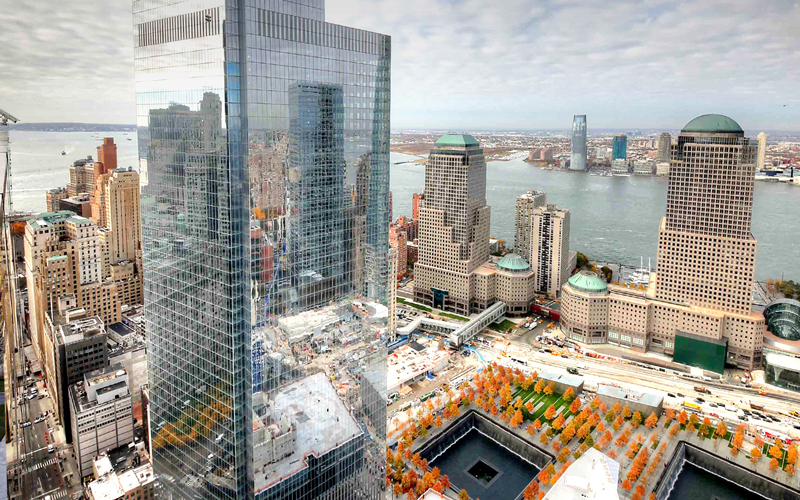 Benson Industries, Four World Trade Center, Glass building, curtainwall, New York City