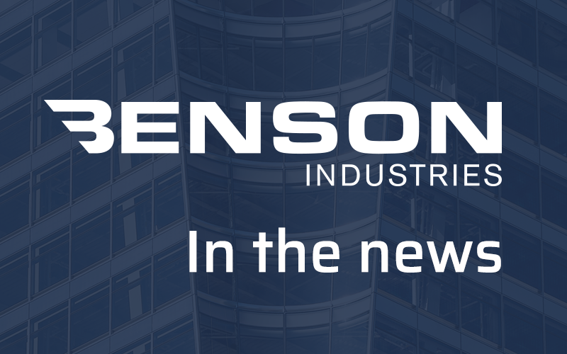 Benson Industries, in the news, news post, architecture, glass facade, custom curtainwall
