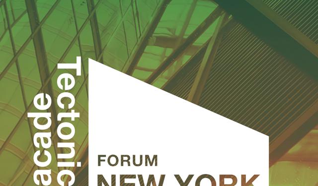 Facades Tectonics Forum New York, 2018