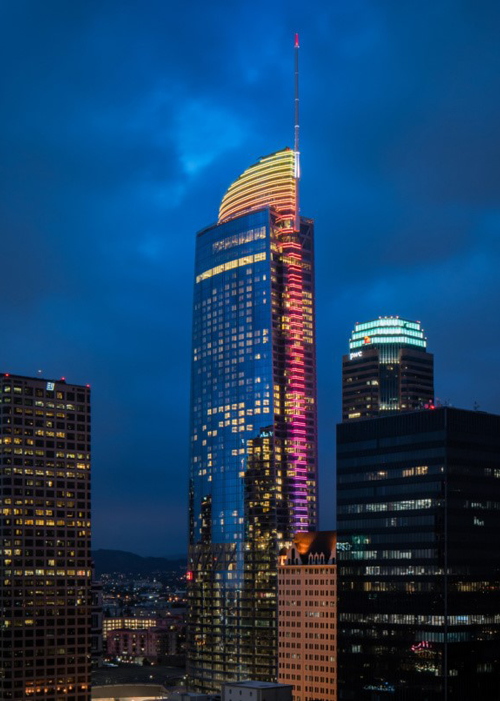 Wilshire Grand, Benson Industries, ENR California, Glass Facade, Hunter Kernhart