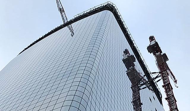 One Manhattan West, In Progress, Installation, curtainwall, screen